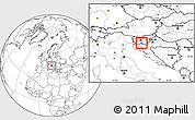 Blank Location Map of Loski Potok
