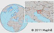 Gray Location Map of Loski Potok