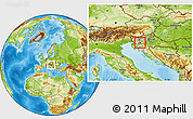 Physical Location Map of Loski Potok