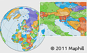 Political Location Map of Loski Potok
