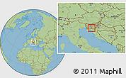 Savanna Style Location Map of Loski Potok