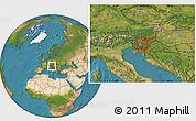 Satellite Location Map of Lukovica