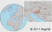 Gray Location Map of Maribor