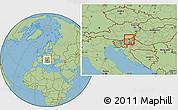 Savanna Style Location Map of Maribor
