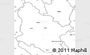 Blank Simple Map of Maribor