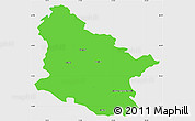 Political Simple Map of Maribor, single color outside