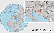 Gray Location Map of Metlika