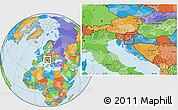 Political Location Map of Metlika