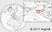 Blank Location Map of Miren-Kostanjevica
