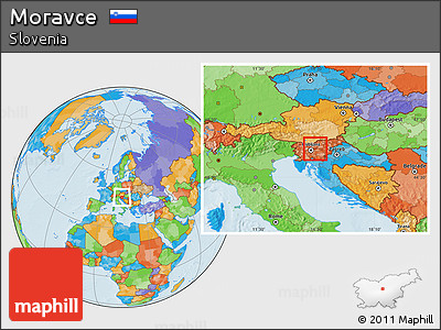 Political Location Map of Moravce