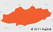 Political Simple Map of Moravce, single color outside