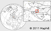 Blank Location Map of Murska Sobota