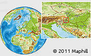 Physical Location Map of Murska Sobota