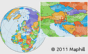 Political Location Map of Murska Sobota