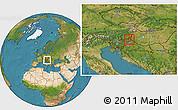 Satellite Location Map of Murska Sobota