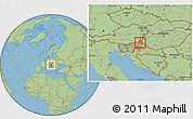 Savanna Style Location Map of Murska Sobota