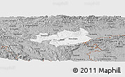 Gray Panoramic Map of Novo Mesto