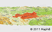 Political Panoramic Map of Novo Mesto, physical outside