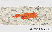Political Panoramic Map of Novo Mesto, shaded relief outside