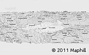 Silver Style Panoramic Map of Novo Mesto