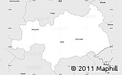 Silver Style Simple Map of Novo Mesto