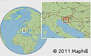 Savanna Style Location Map of Osilnica