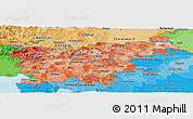 Political Shades Panoramic Map of Slovenia
