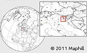 Blank Location Map of Piran