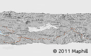Gray Panoramic Map of Pivka