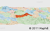 Political Panoramic Map of Pivka, lighten