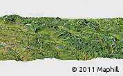 Satellite Panoramic Map of Pivka