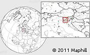 Blank Location Map of Postojna
