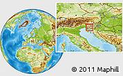 Physical Location Map of Postojna
