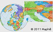 Political Location Map of Postojna