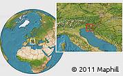 Satellite Location Map of Postojna