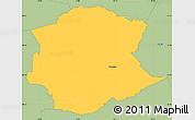 Savanna Style Simple Map of Postojna