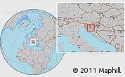 Gray Location Map of Ribnica