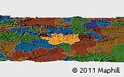 Political Panoramic Map of Sevnica, darken