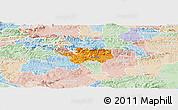 Political Panoramic Map of Sevnica, lighten