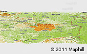 Political Panoramic Map of Sevnica, physical outside