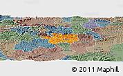 Political Panoramic Map of Sevnica, semi-desaturated