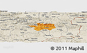 Political Panoramic Map of Sevnica, shaded relief outside