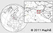 Blank Location Map of Sezana