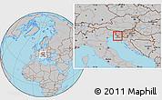 Gray Location Map of Sezana