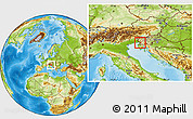 Physical Location Map of Sezana
