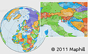 Political Location Map of Sezana