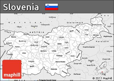 אטרקציות בסלובניה. בכל נקודה במפה