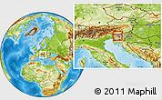 Physical Location Map of Skofja Loka