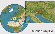 Satellite Location Map of Skofja Loka