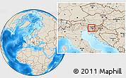 Shaded Relief Location Map of Skofja Loka